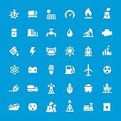 Energy Generation vector icons set