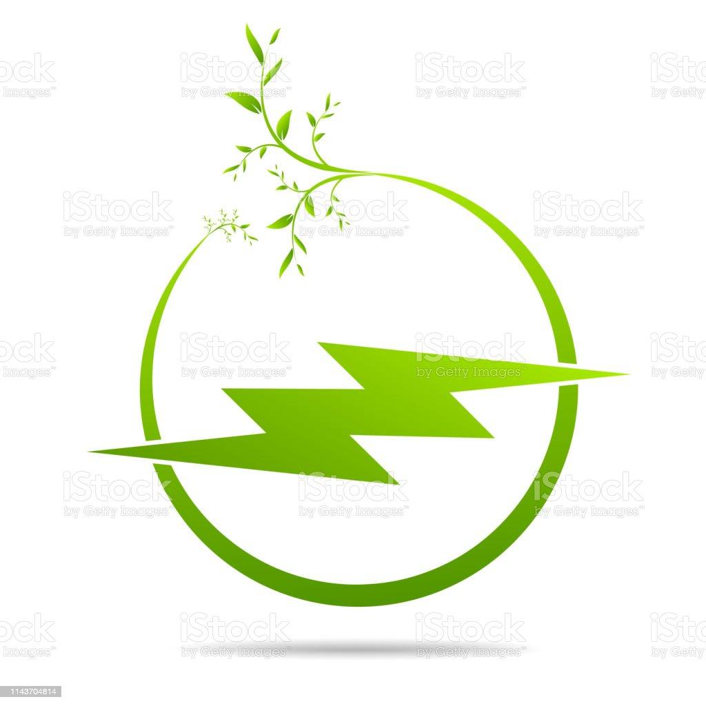 Energy green electricity design icon