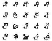 Energy icon set , vector illustration