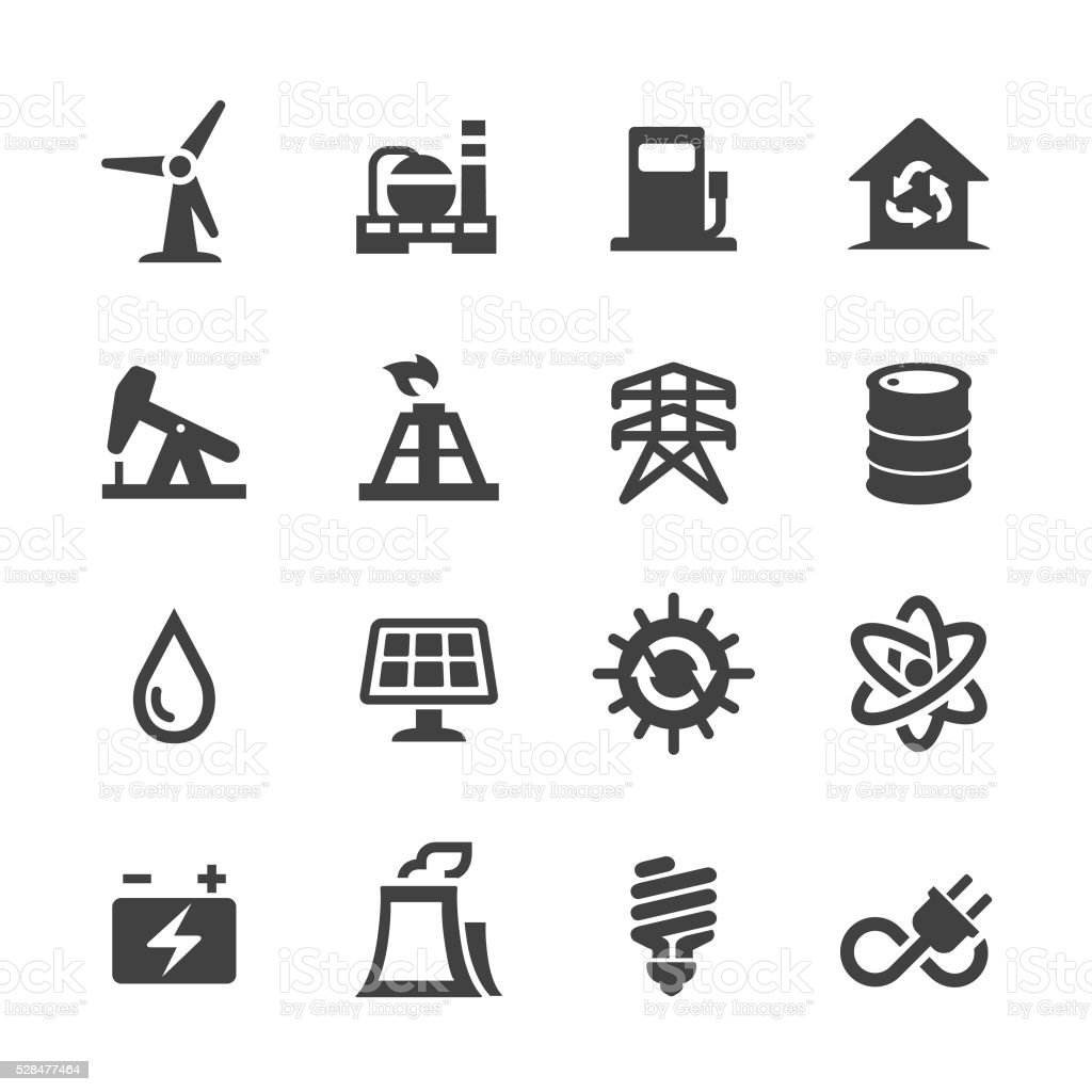 Energy Icons - Acme Series vector art illustration