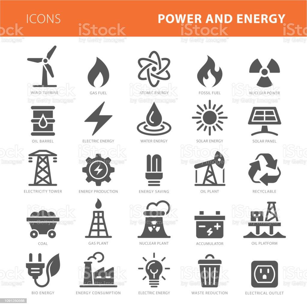 エネルギー アイコン グレーのベクター イラスト セット ロイヤリティフリーエネルギー アイコン グレーのベクター イラスト セット - アイコンのベクターアート素材や画像を多数ご用意
