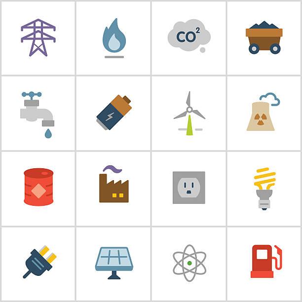 ilustraciones, imágenes clip art, dibujos animados e iconos de stock de iconos de energía, serie polietileno - gas