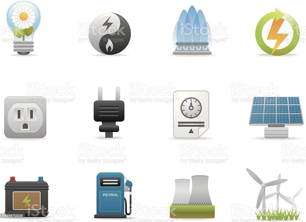 Energie Symbole/Premium-Matten series – Vektorgrafik
