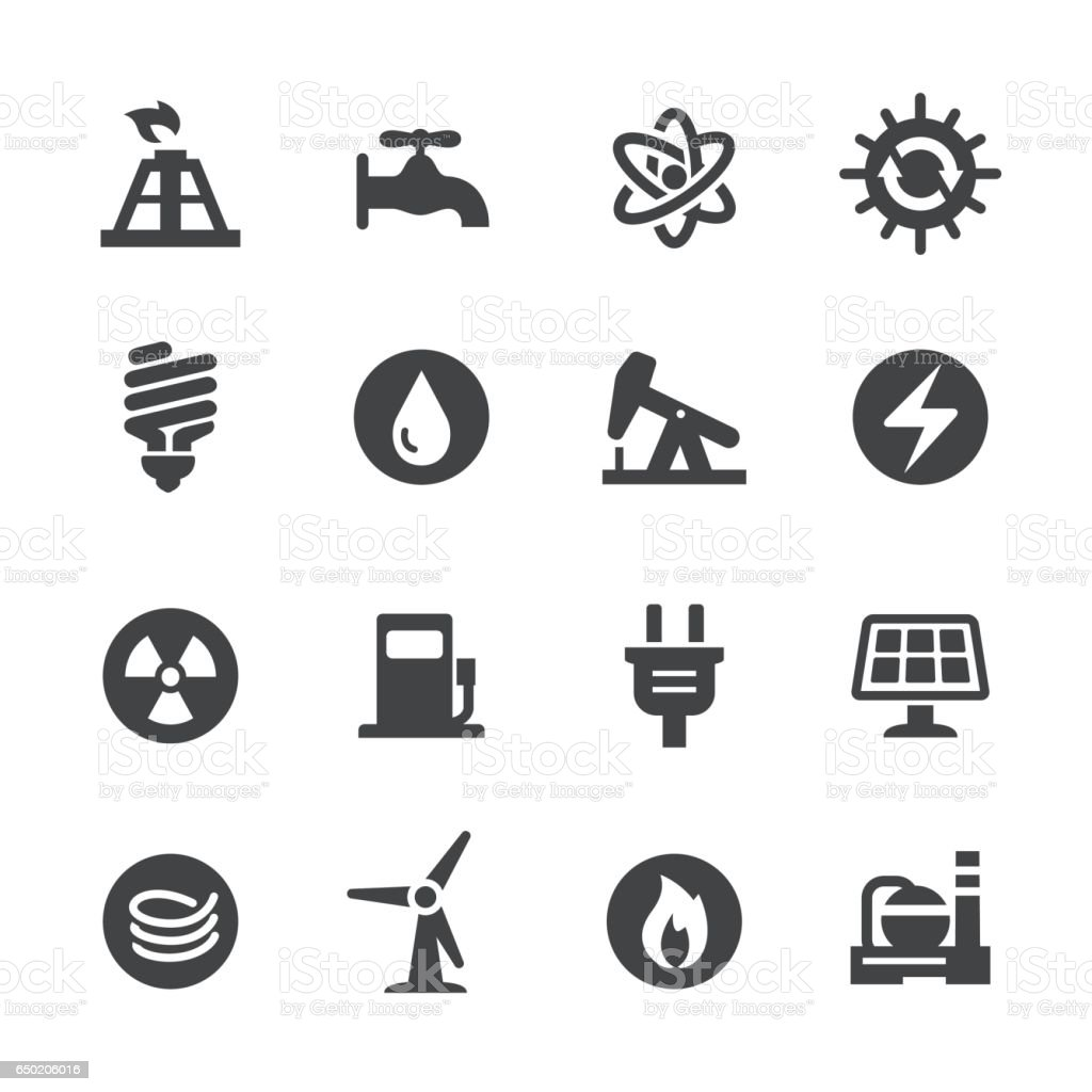 Energy Icons Set - Acme Series vector art illustration