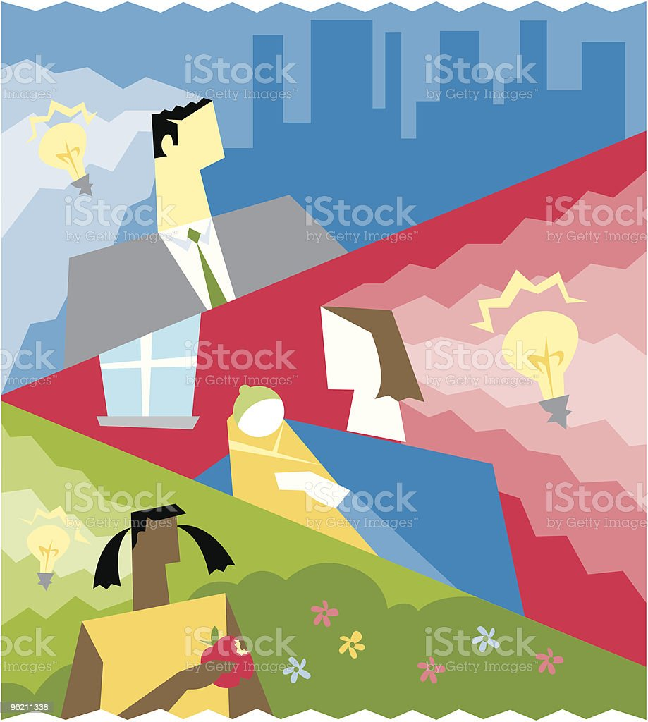 Energy ideas royalty-free stock vector art