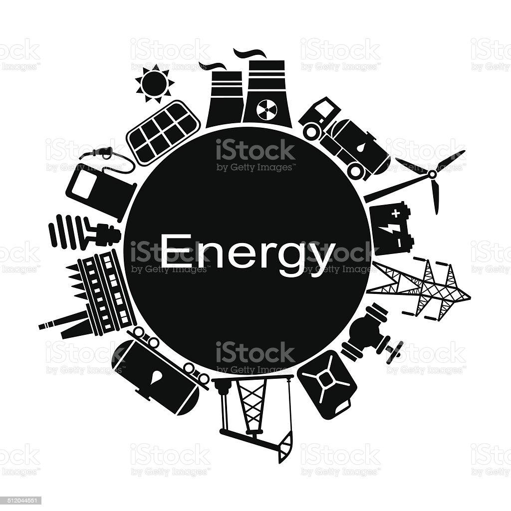 Energy industry background vector art illustration