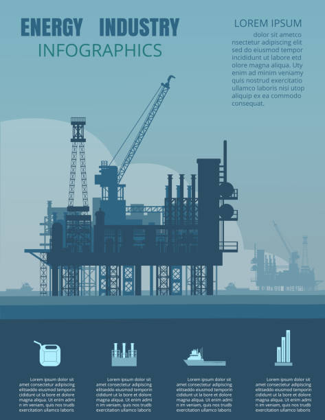 Energy industry infographic Energy industry infographic from vector.oil and gas industry infographic elements and Icon set. oil and gas stock illustrations