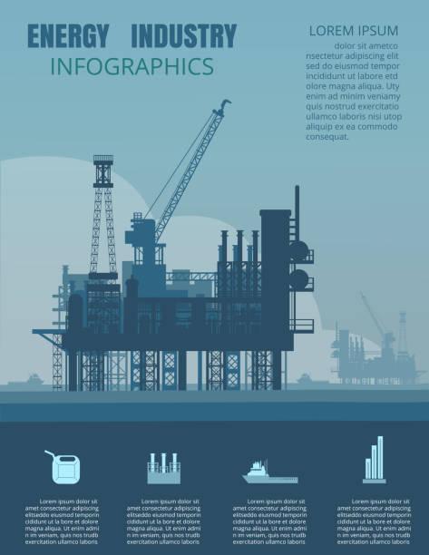 energy industry infographic - kule stock illustrations