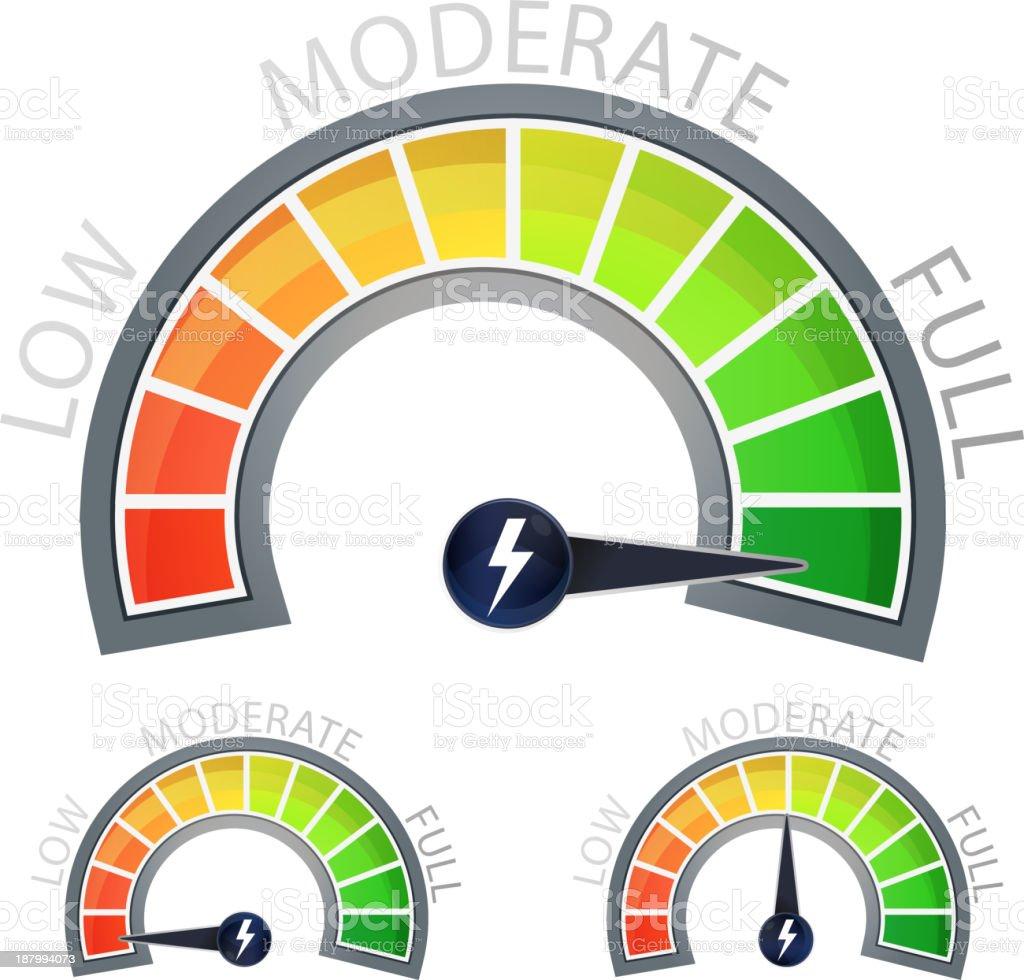 Energy Level Meter vector art illustration