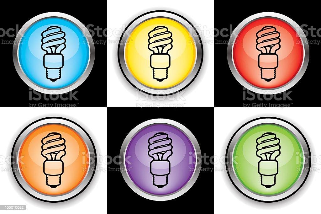 Energy light bulb icons royalty-free stock vector art