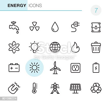 20 Outline Style - Black line - Pixel Perfect icons / Set #7