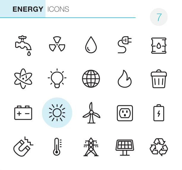 Energie - Pixel Perfect icons – Vektorgrafik
