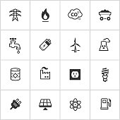 Energy & Power Icons — Inky Series