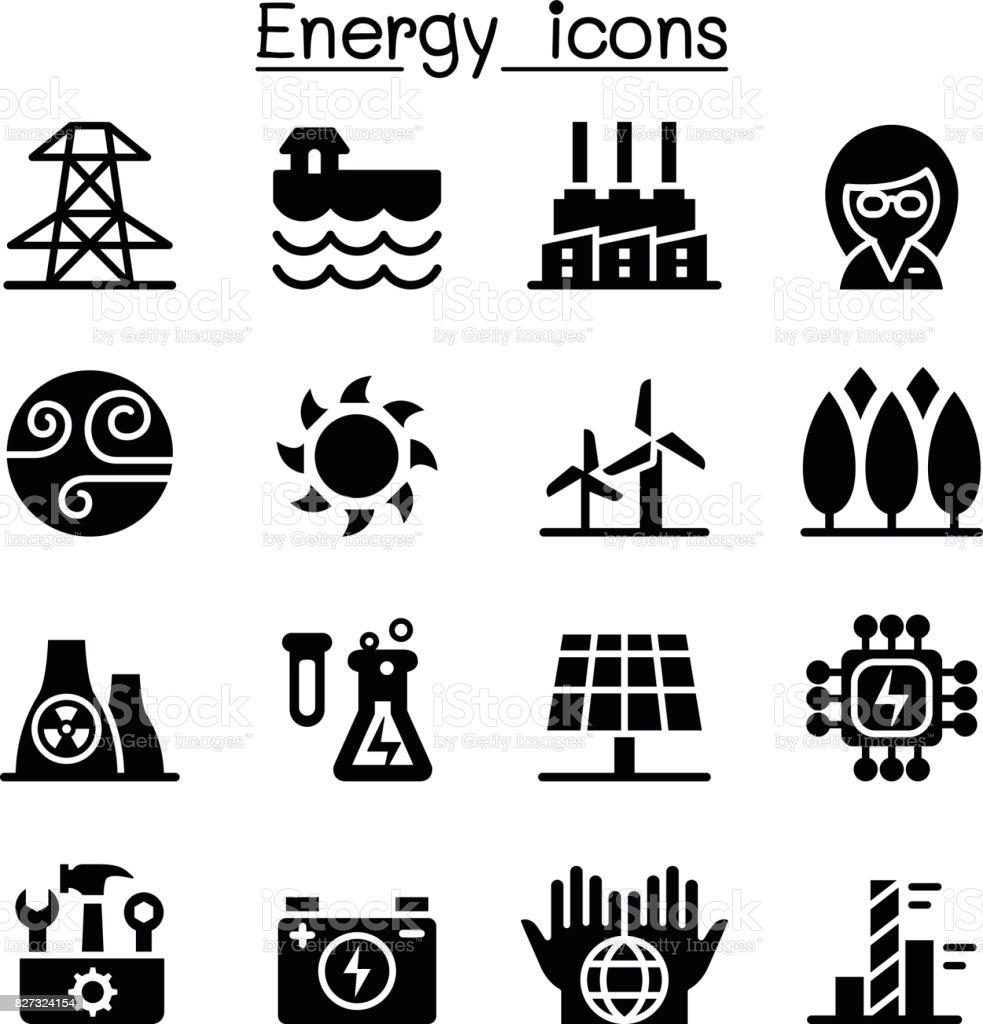 Energie Stromversorgung Symbole Stock Vektor Art und mehr Bilder von ...