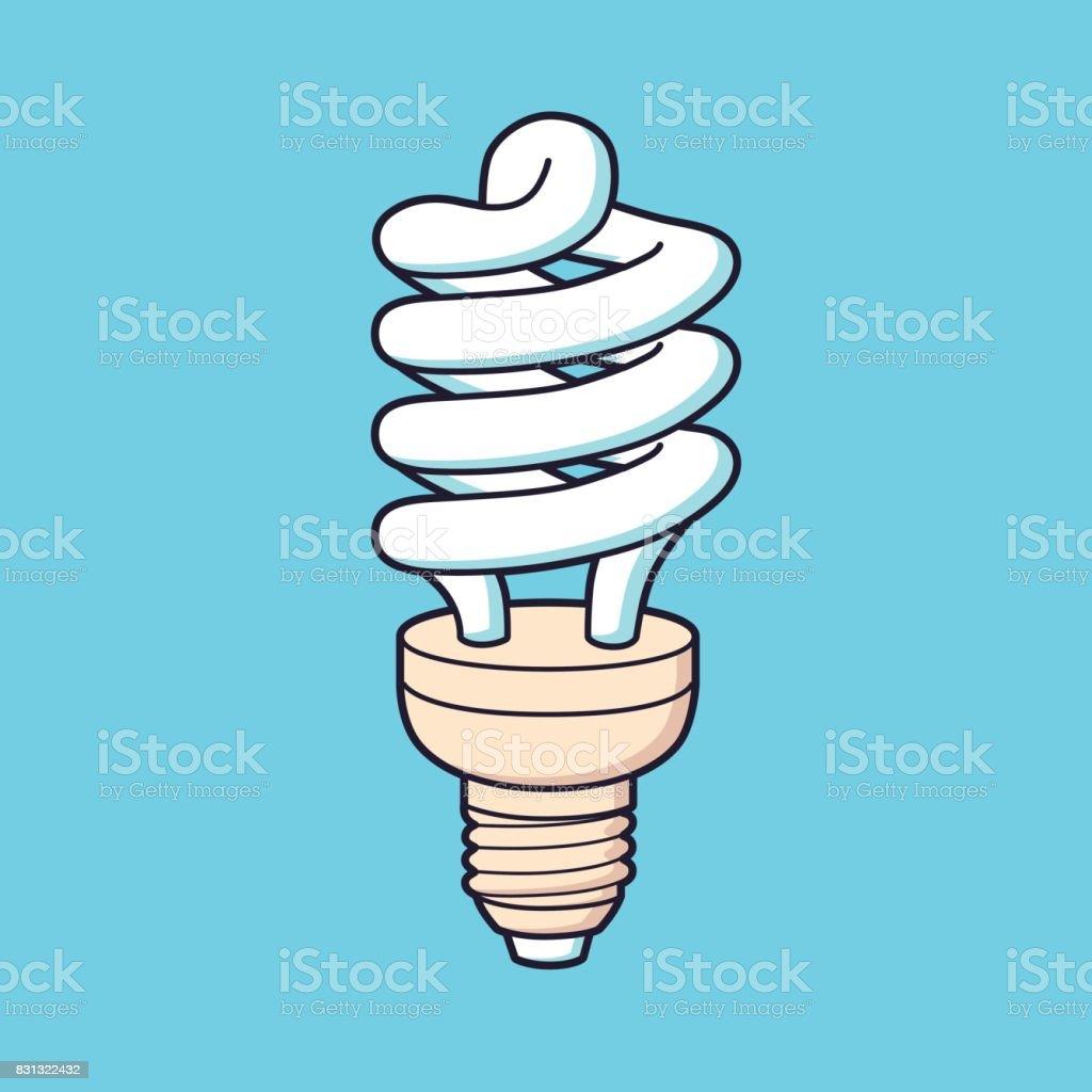 Energy saving lamp vector. vector art illustration