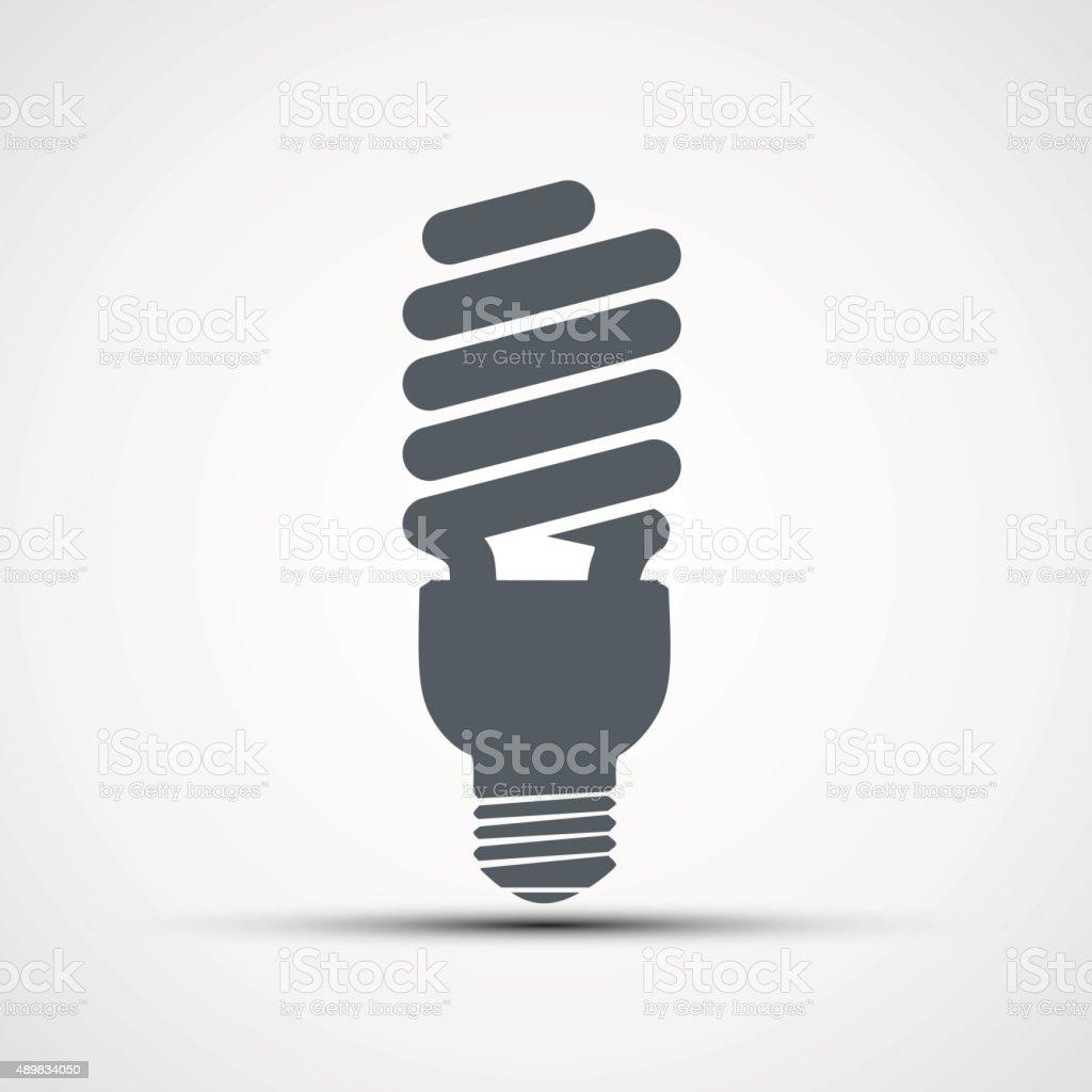 Energy saving light bulb icon vector vector art illustration