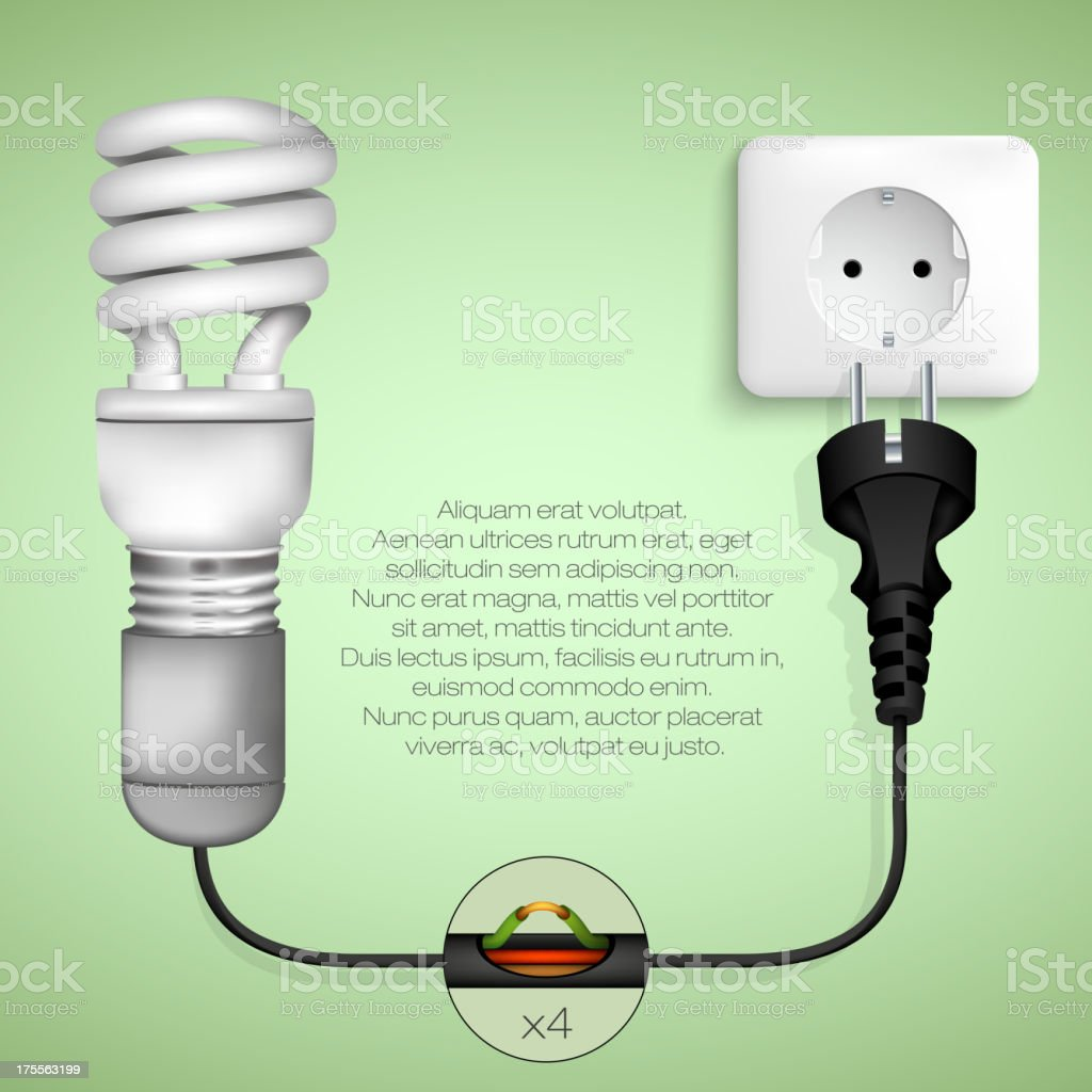Energy saving light bulb royalty-free energy saving light bulb stock vector art & more images of architecture