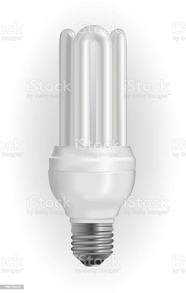 Energy saving light bulb vector art illustration