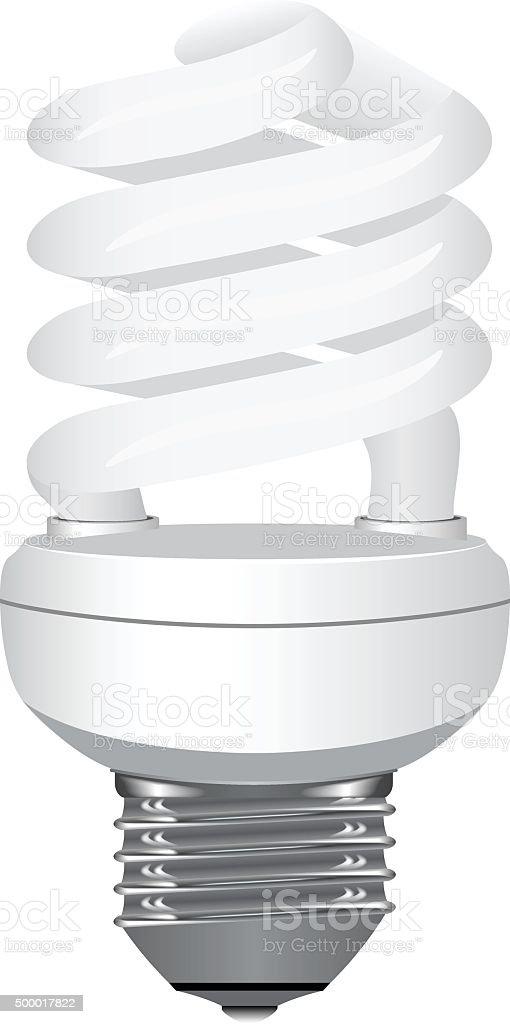 Energy saving light bulb. vector art illustration