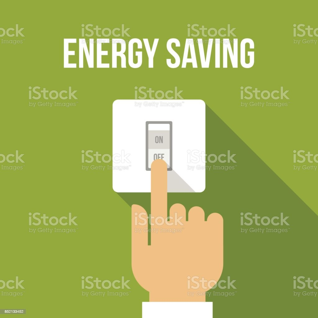 Energy saving vector art illustration