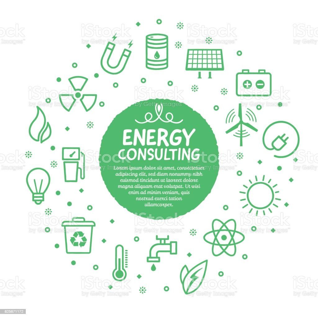 Energy Services Poster vector art illustration