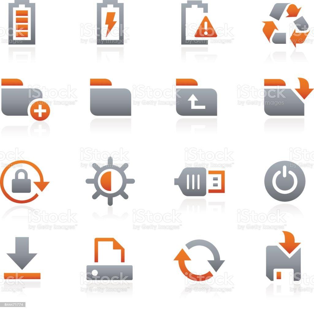 Energy Storage Icon Set Graphite Series Stock Illustration Download Image Now Istock