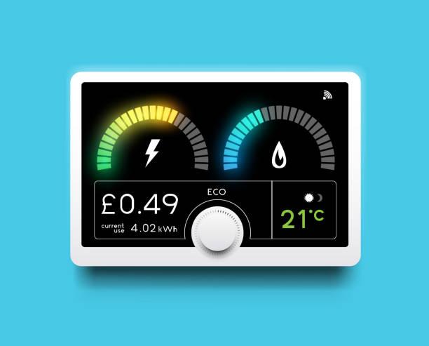 Energie Tracking Home Smart Meter – Vektorgrafik