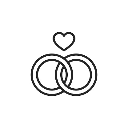 Engagement Ring Line Vector Icon. Editable Stroke. Pixel Perfect. For Mobile and Web.