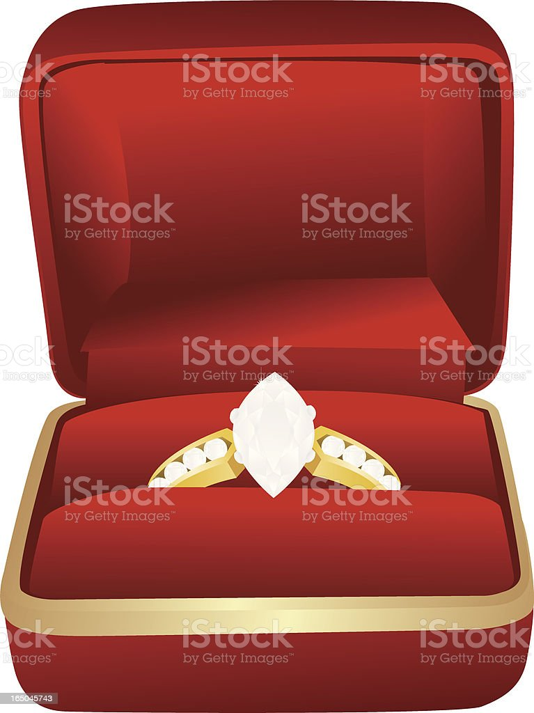 Engagement Ring royalty-free engagement ring stock vector art & more images of beauty