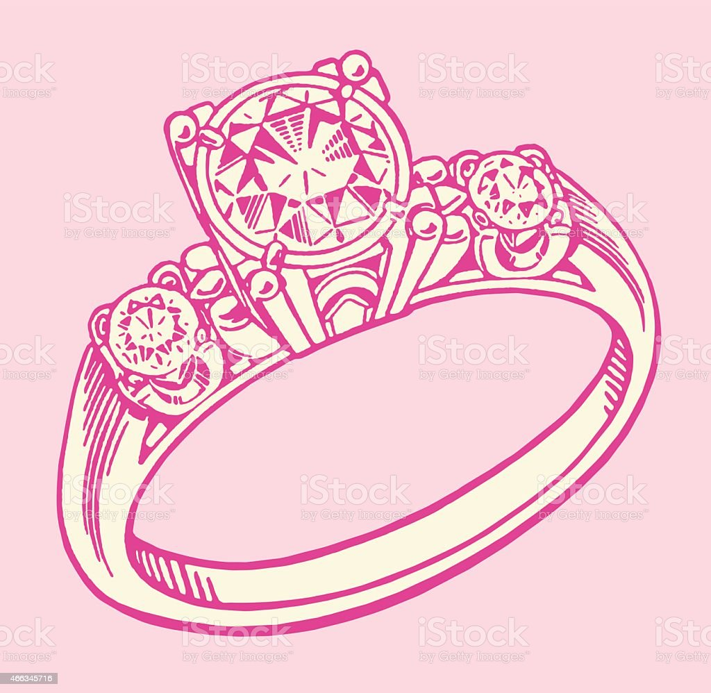 Engagement Ring stock vector art 466345716 | iStock