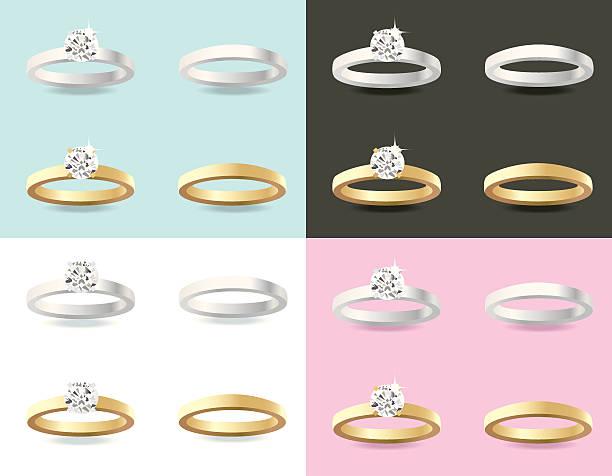 engagement rings - heather mcgrath stock illustrations