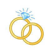 Engagement Rings Vector Illustration