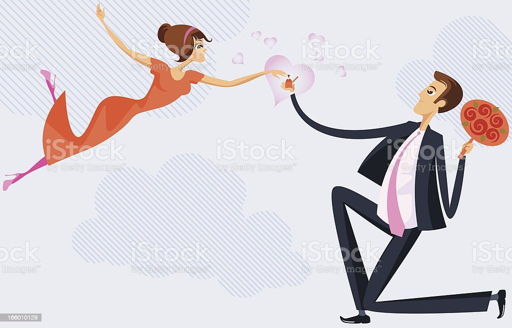 Engagement. vector art illustration