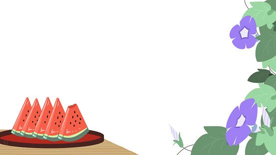 Engawa watermelon morning glory purple