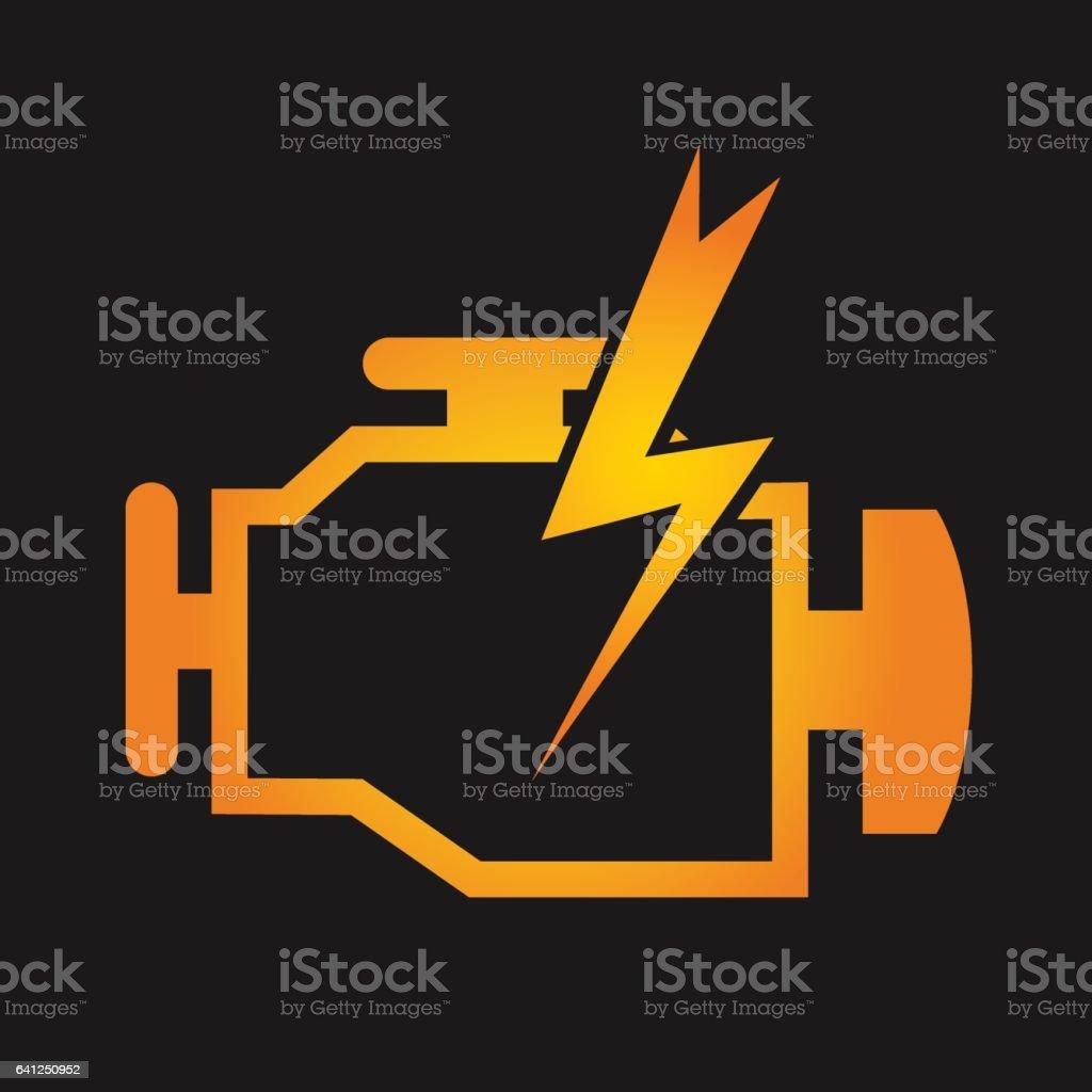 Engine check design vector art illustration