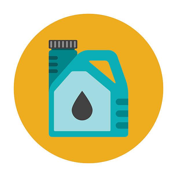 Engine oil flat icon向量藝術插圖
