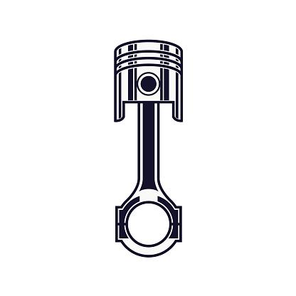 Engine Piston Illustration - VECTOR