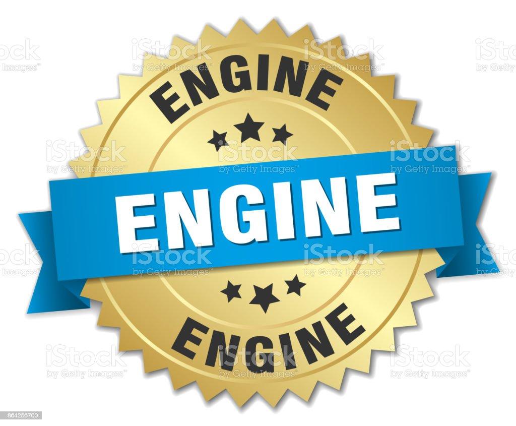 engine round isolated gold badge royalty-free engine round isolated gold badge stock vector art & more images of award ribbon