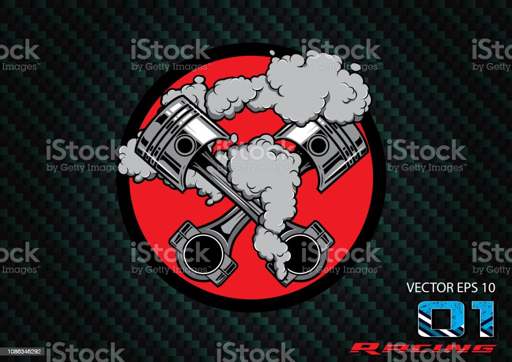Engine Shoulder Car Piston Racing Car Logo Graphic Design