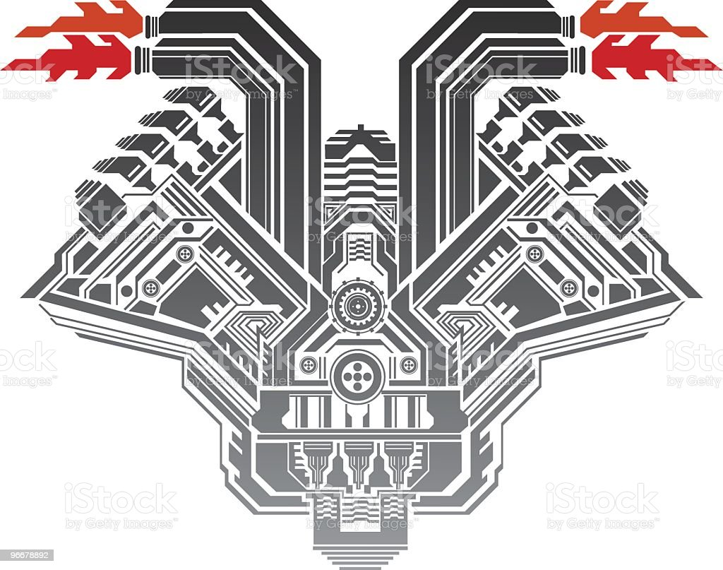 engine royalty-free stock vector art