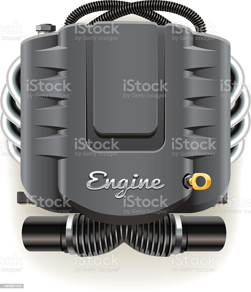 Engine with Cover vector art illustration