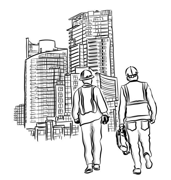 Ingenieur und Unternehmer – Vektorgrafik