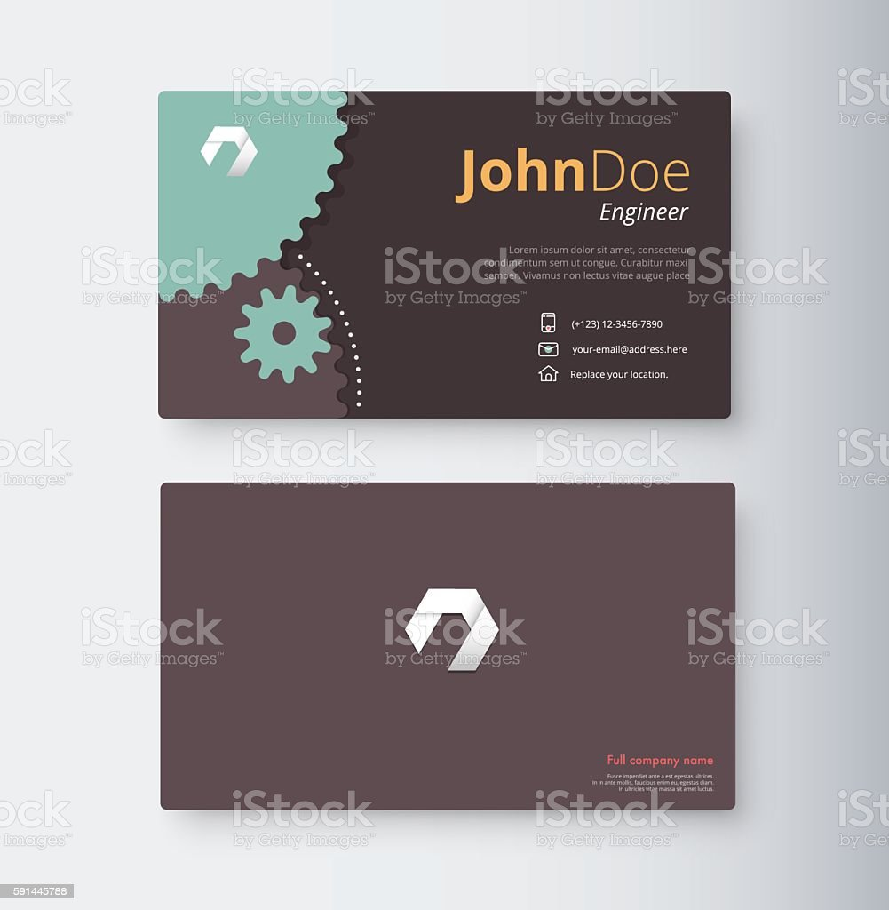 Engineer business card template gear business card stock vector engineer business card template gear business card royalty free stock vector art magicingreecefo Image collections