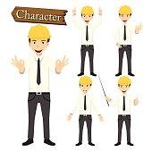 Engineer character set vector