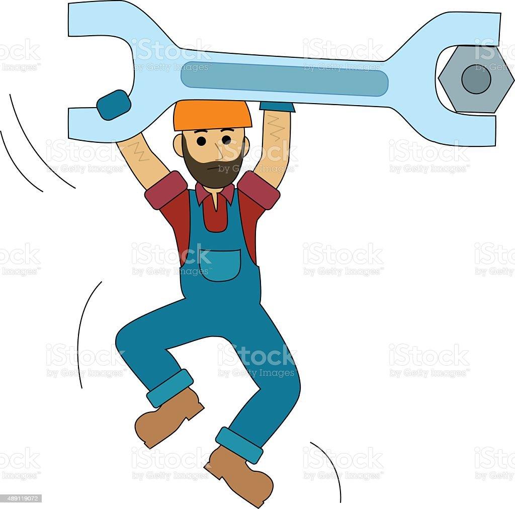 Engineer Construction worker vector art illustration