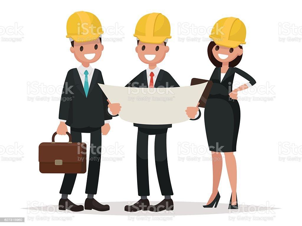 royalty free architect customer engineer construction clip art rh istockphoto com