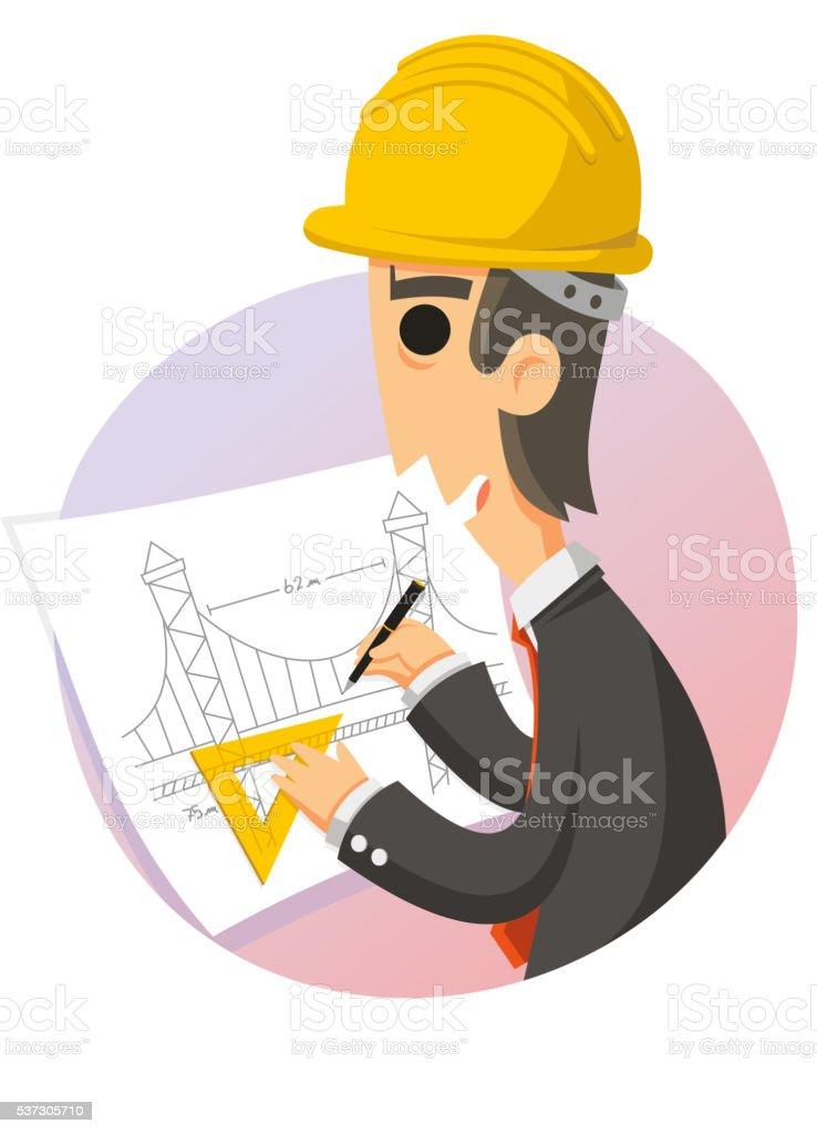 Ingenieur Zeichnung Pläne Vektor Illustration 537305710 | iStock