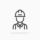 istock Engineer icon in line style. 1150700209