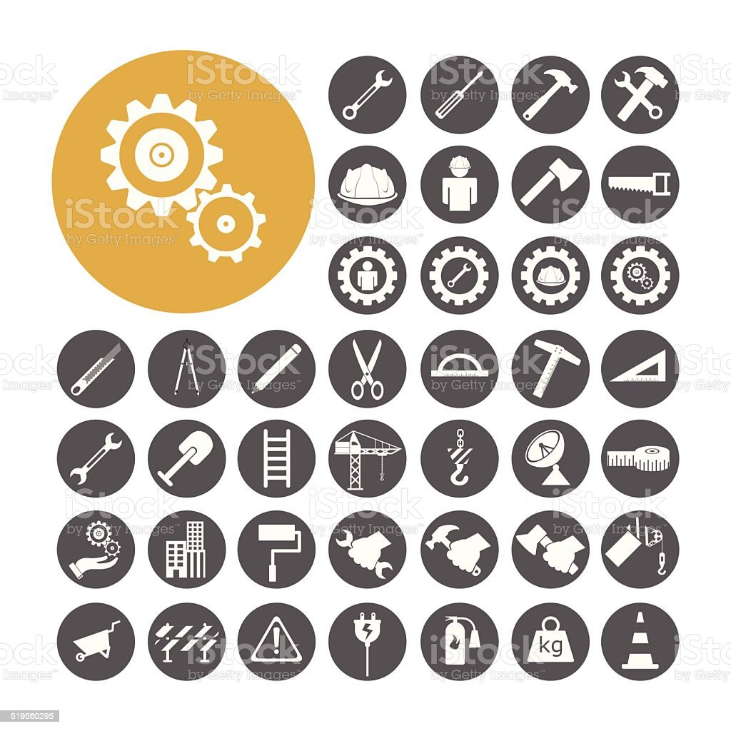 Engineer Icon set vector illustration. vector art illustration
