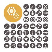Engineer Icon set vector illustration.